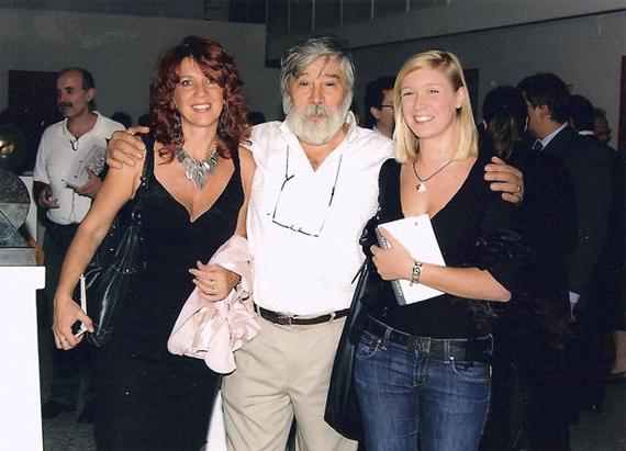 Con l'artista Nunzio Quarto e Virginia Fovi