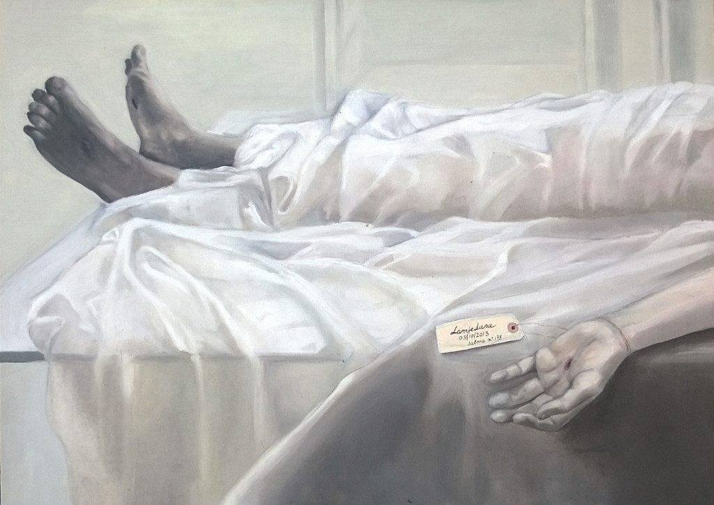 """Deposition"" 2014, oil on canvas cm. 70x50"