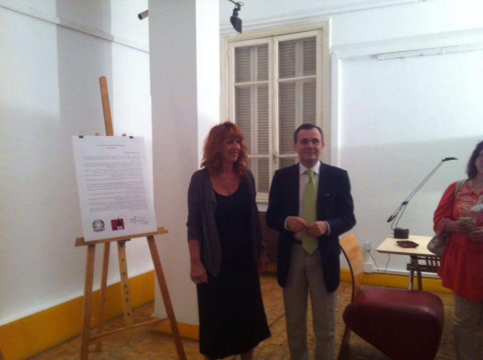 Con il Direttore Ist. Italiano Cultura al Cairo, Pailo Sabbatini, 2017