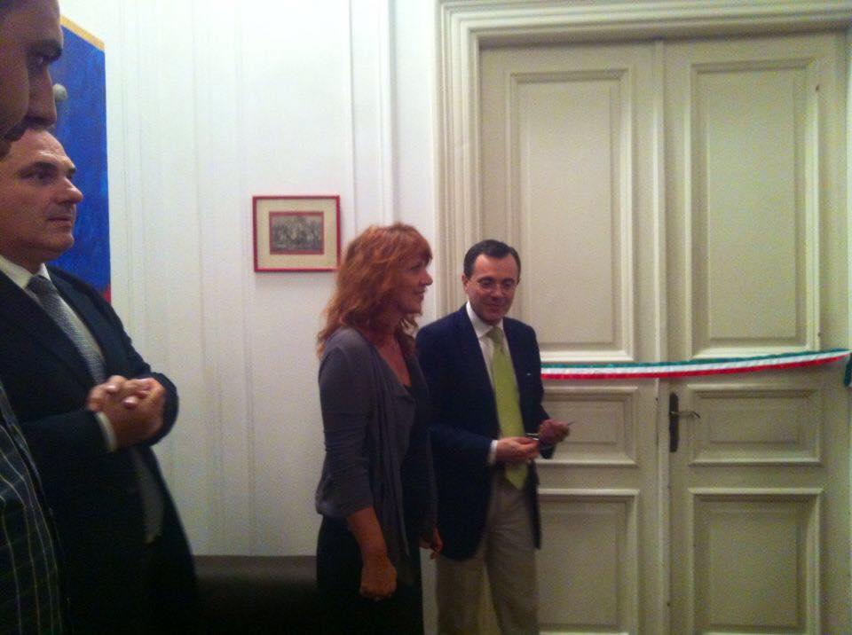 Inaugurazione mostra Design al Cairo IDD con P. Sabbatini