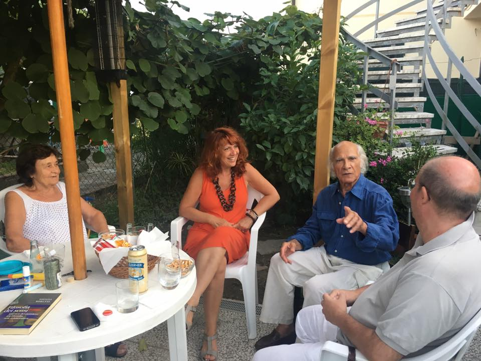 Con l'amico artista Giovanni Campus, agosto 2017