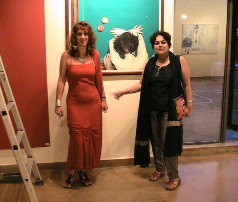 Con Alka Pande, inaugurazione Polynations a Delhi.