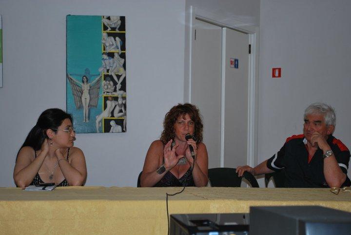 Con M.Torelli e S.Sebaste, Inaugurazione personale a Metaponto, 2010