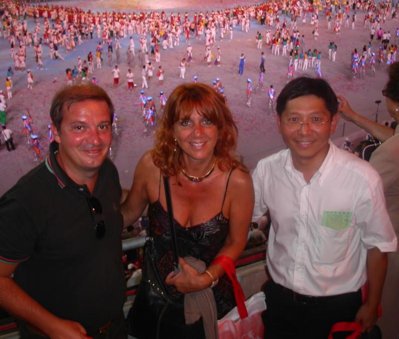 Con A.Dalle Rive e C.Yuan ai Giochi Olimpici di Beijing 2008