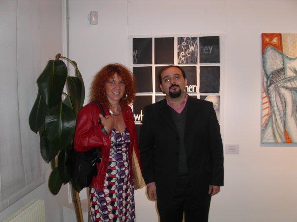 Con il critico Luca Pietro Nicoletti
