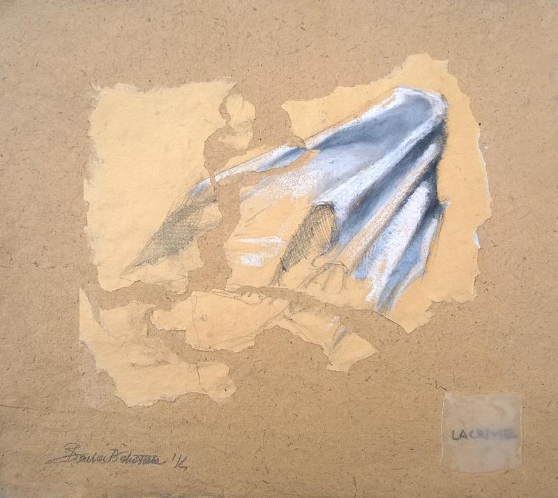 """""""Lacrime"""" pastello a olio e grafite su carta"""
