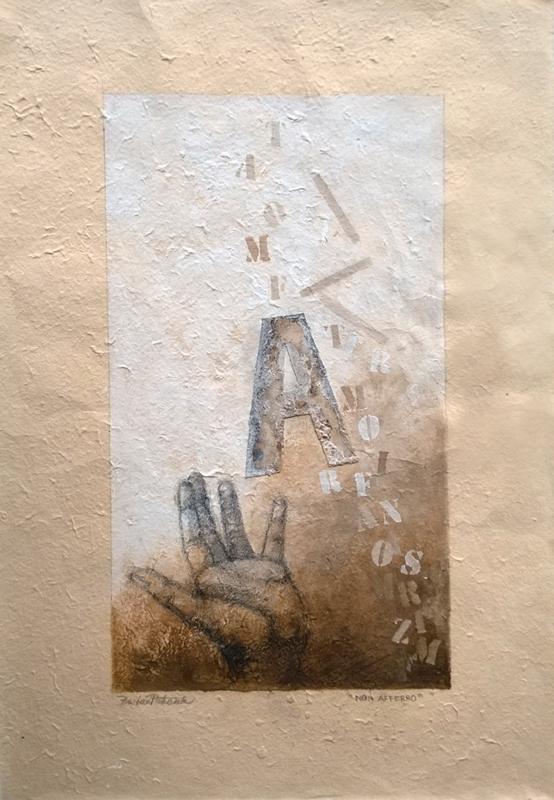 """""""Non afferro"""" - Olio su carta nepalese, 2014"""