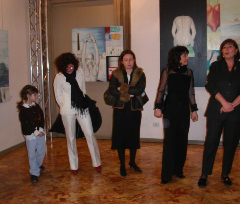 Inaugurazione mostra personale a Villa Ghirlanda, Cinisello Balsamo con la presenza del Sindaco Daniela Gasparini e Patrizia Raveggi.