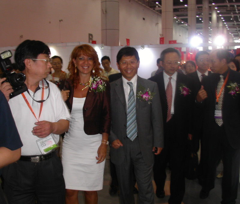 Con Cuiming Yuan al CGIF di Dalian, China 2008