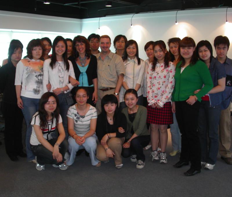 Con gli allievi di Shanghai Vocational Training Center