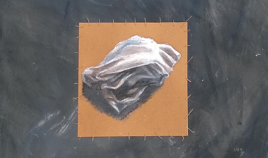 """""""Dove vanno le lacrime"""" pastello a olio su carta, 2015"""