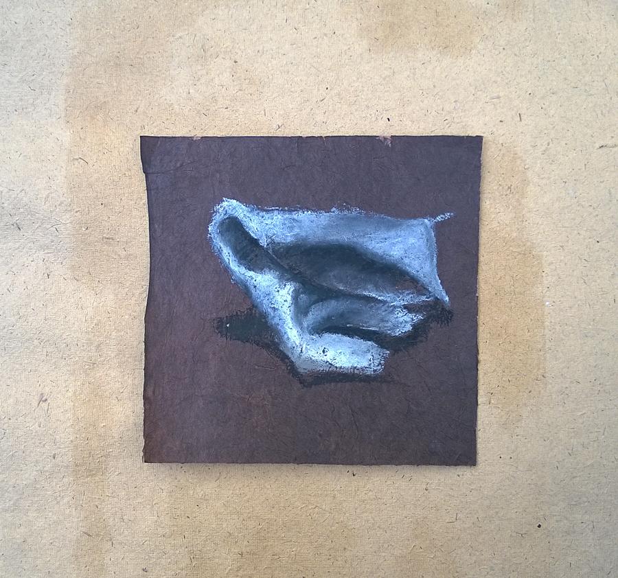 """""""Impermanenza"""" - pastello a olio su carta, 2015"""