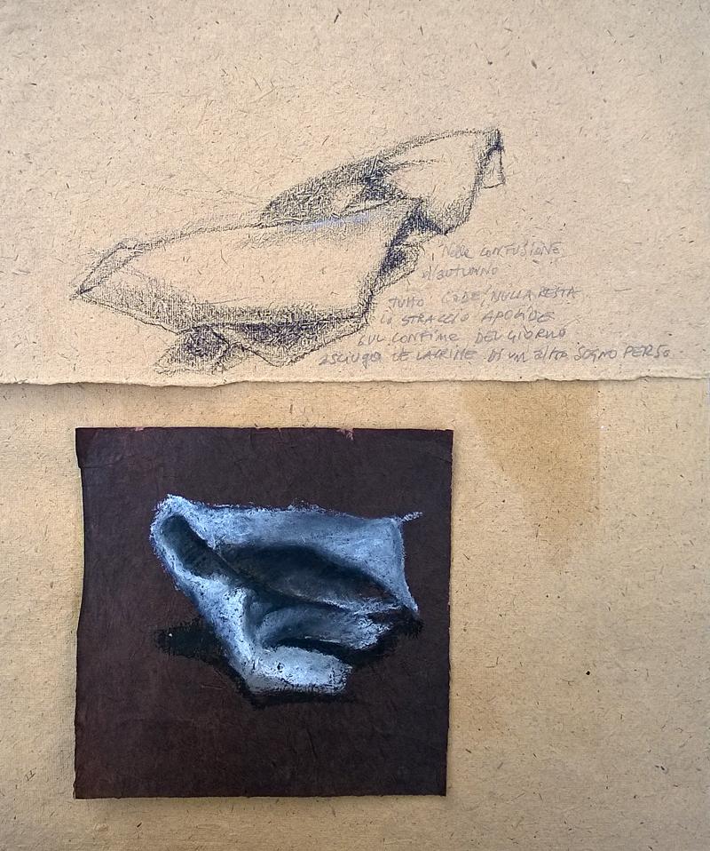 """""""Straccio apolide"""" - pastello a olio su carta, 2015"""