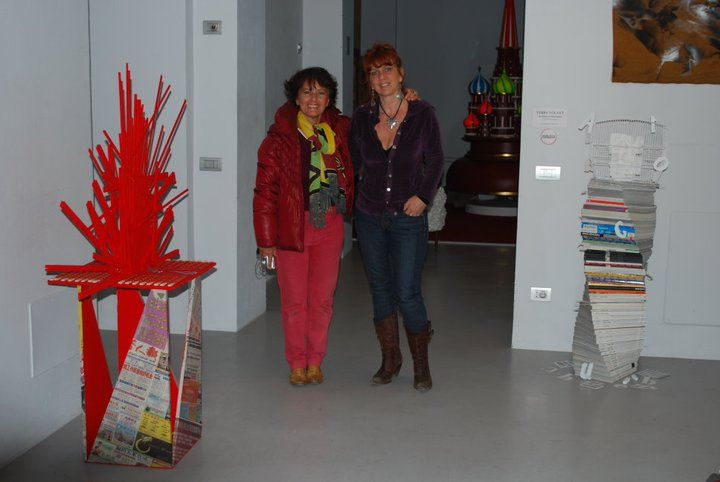Con Clara Bartolini allo Spazio Sarpi durante il Fuorisalone