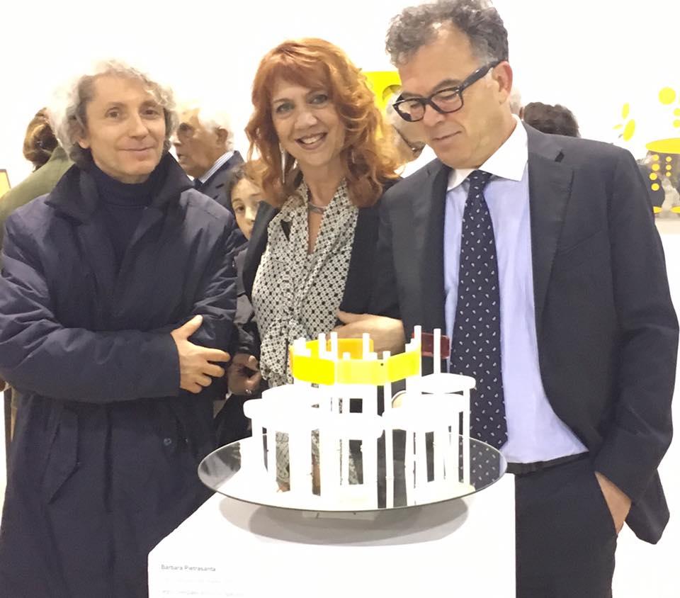 """Con Franco Marrocco all'inaugurazione della mostra """"Cos'è una sedia per un artista"""" La Permanente, 2017"""