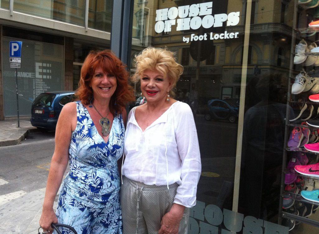 Con l'attrice Sandra Milo