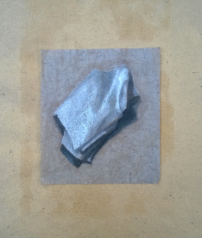 """""""Ripiegato"""" - pastello a olio su carta, 2015"""