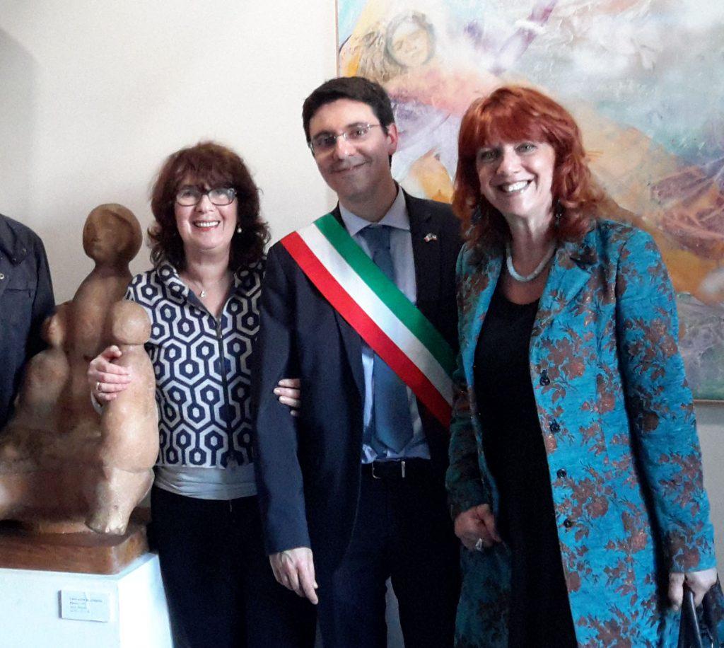 Inaugurazione mostra a Vanzago, con il Sindaco Guido Sangiovanni