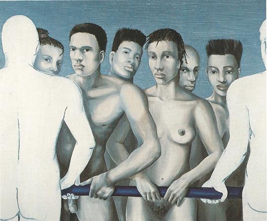 """""""Confini 1992 olio su tela,cm.100x120"""