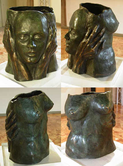 """Don't look inside"" Bronze Farnesina Collection"