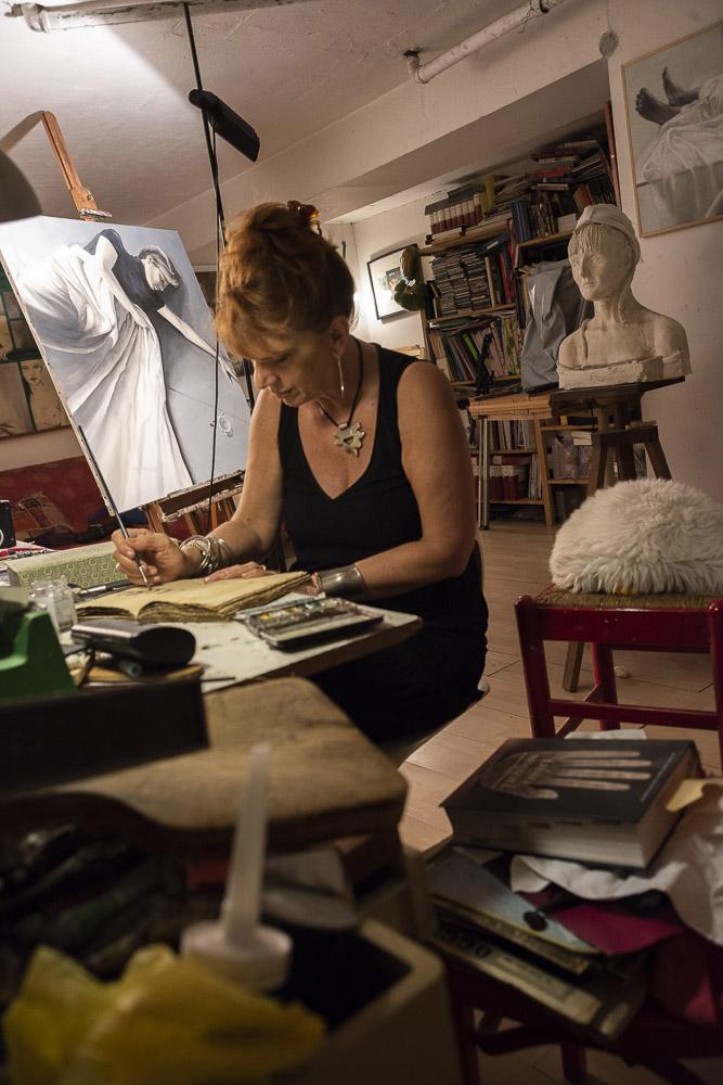 Nello studio di Milano