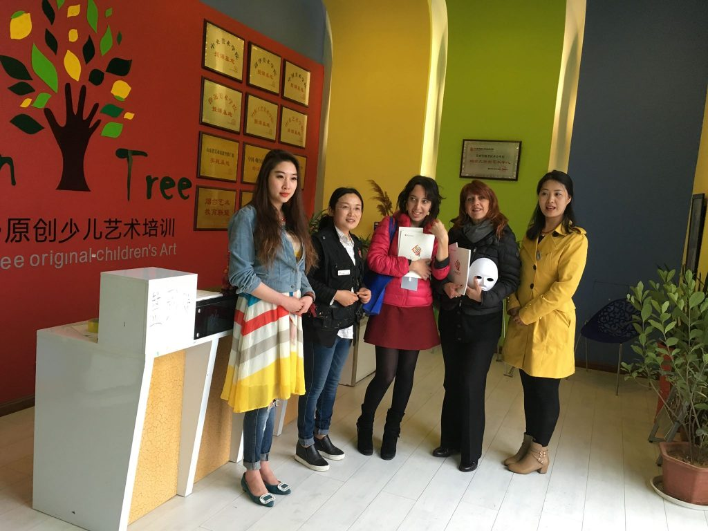 Visita alla Tree School of Visual Art, Shandong China