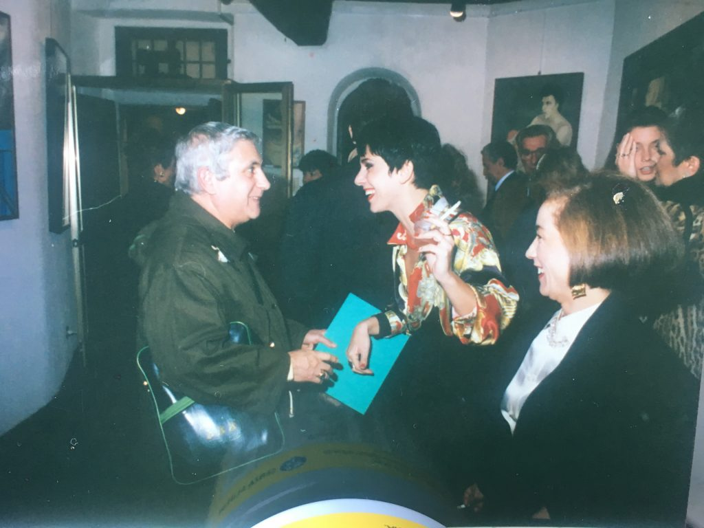 """Inaugurazione """"Strade, bivi e deviazioni"""" Ass.Amici dell'arte, via mercato, Milano 1993"""
