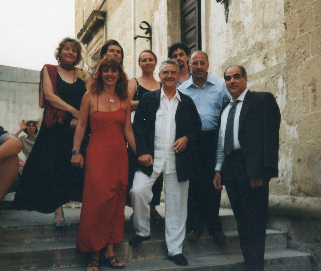Con Eugenia Serafini, Aghim Mukha, Prof. Carlo Franza e Marisa Settembrini, Pinacoteca di Tricase 2000
