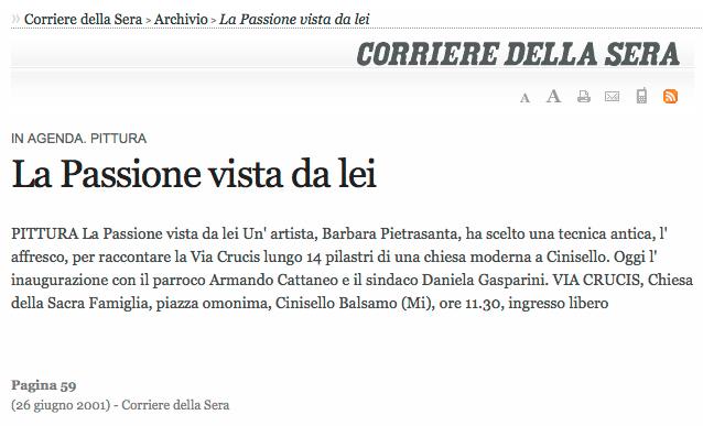 Corriere della sera | Via Crucis | giugno 2001