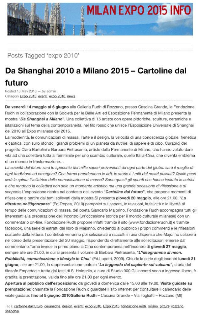 Milan Expo 2015 info
