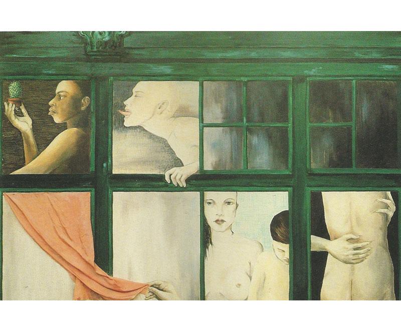 """""""Radici"""" 1990 olio su tela, cm.100x150"""