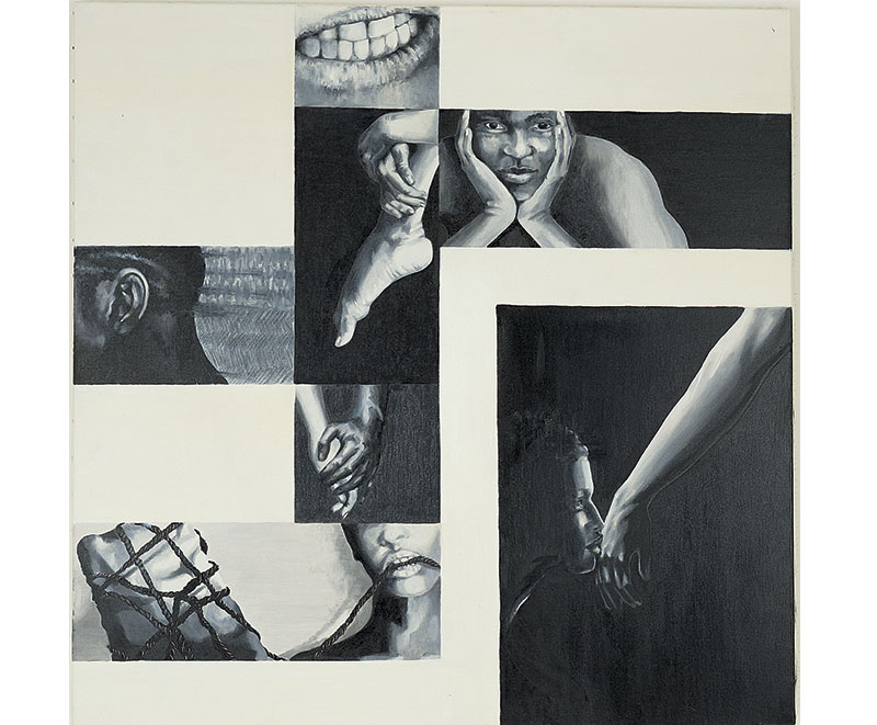 """""""Riscatto"""" 1991 olio su tela, 100x100"""