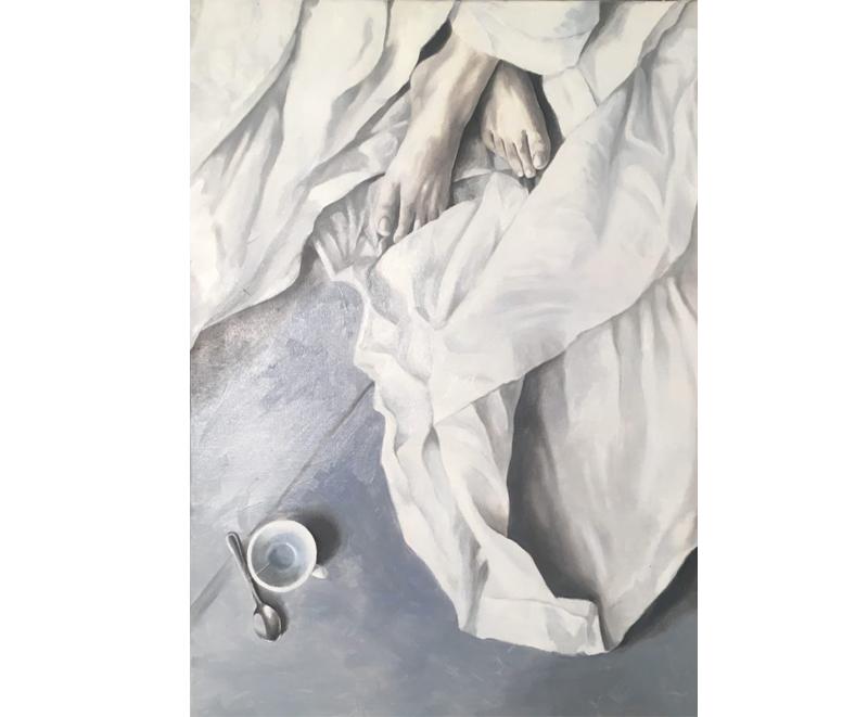 """Satori"" 2017, oil on canvas cm. 50 x 70"
