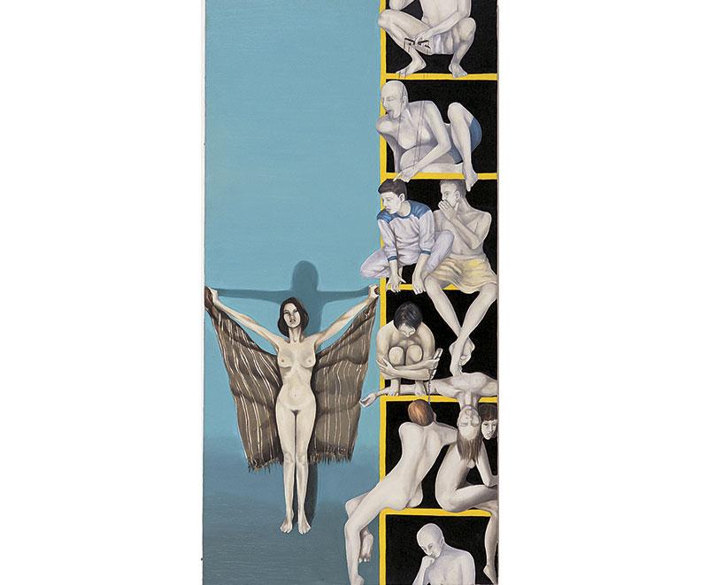 """""""Il condominio""""1997 olio su tela, cm.50x50"""