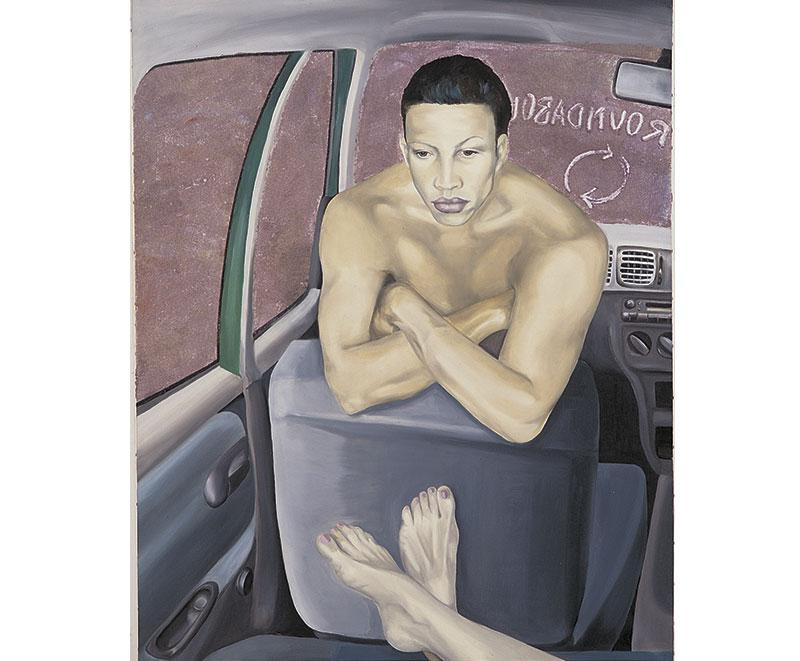 """""""Roundabout"""" 1998, olio su tela cm.100x120"""