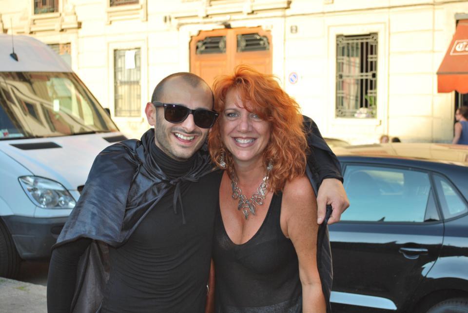 Con Divietik durante le riprese