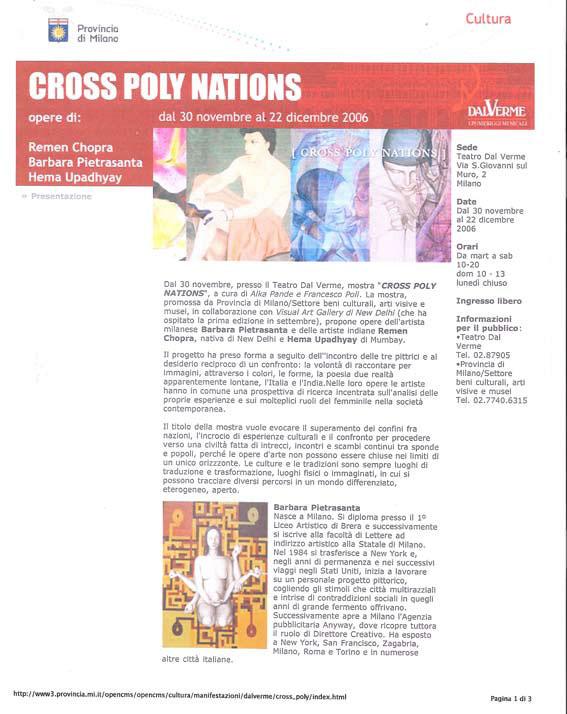 Cross Poly Nations Provincia di Milano online