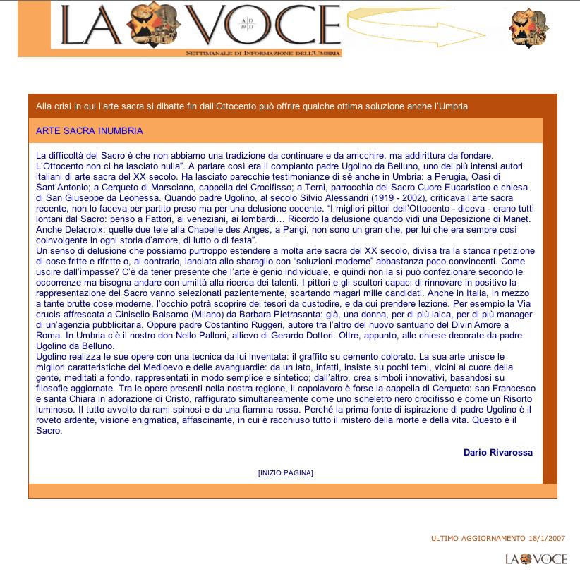 La Voce online di Dario Rivarossa