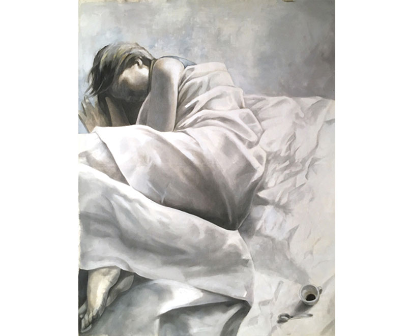 """ Dies Irae"" 2016 oil on raw canvas cm. 100x130"